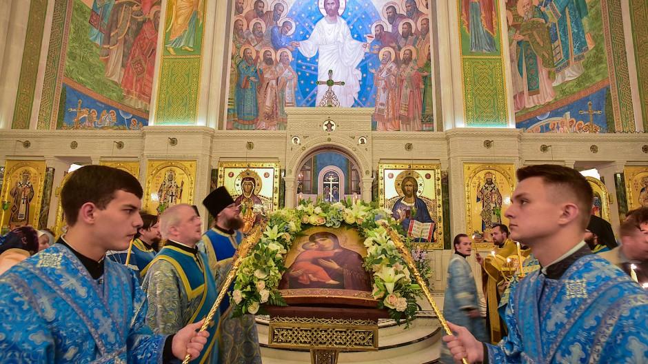 Orthodoxe Christen, die im GULag starben, prangen nun am Freskenhimmel der Neumärtyrerkirche