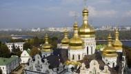 Prachtvoll: die goldenen Dächer der Uspenski-Kathedrale in einem der Lawra-Klöster