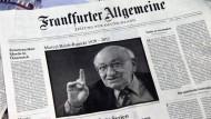 Frank Schirrmacher würdigt Marcel Reich-Ranicki