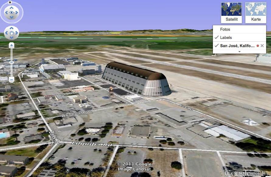 Sunny Vale, von Google beschriftet