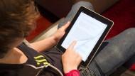 Oft sind die Herausgeber der elektronischen Lehrbücher zugleich die Produzenten der Geräte, auf denen sie gelesen werden.