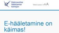 Im Netz: Die Wahlseite Estlands