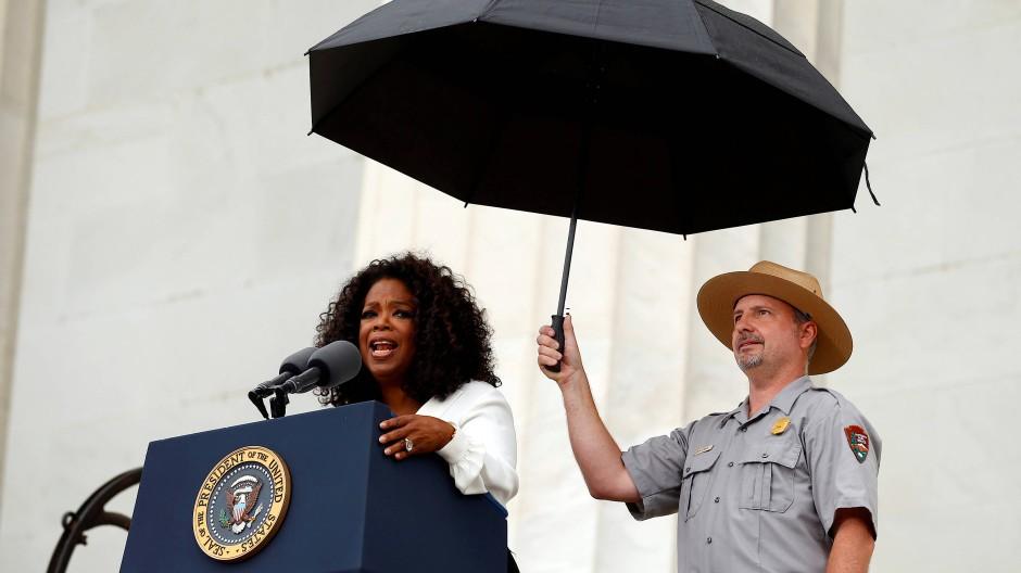 """Nie wieder """"Me too"""": Oprah Winfrey, Beichtmutter der Nation, wünschen sich viele Amerikaner als nächste Präsidentin."""