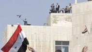 Gegenkundgebung: Zehntausende demonstrierten am Dienstag in Damaskus für Präsident Baschar al-Assad