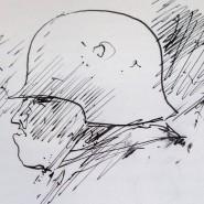 """Selbstbildnis aus dem ersten Manuskript von """"Beim Häuten der Zwiebel"""""""