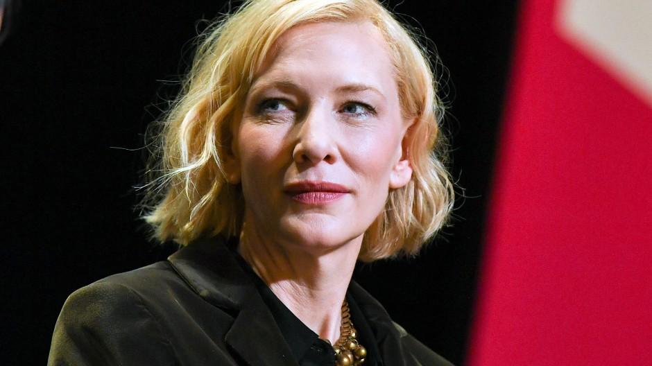 Cate Blanchett nimmt Anfang 2020 an einem Gespräch der Berlinale Sektion Talents im HAU 1 teil.