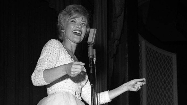 Singer Patti Page performs