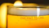 Warm serviert: ein Pint mit Ale