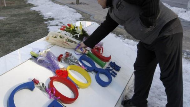 Blumen für Google in China
