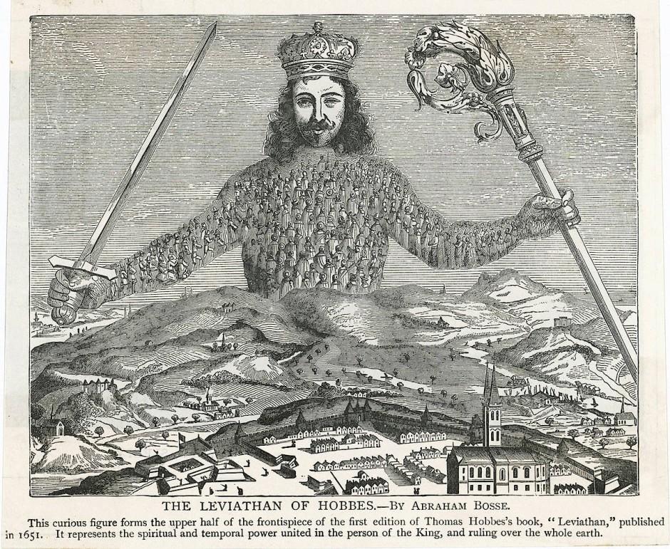 """Prägt noch heute das politische Denken der Briten: Der """"Leviathan"""" von Hobbes (Frontispiz der Ausgabe von 1651)"""