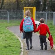 Nachhauseweg von einer Schule in Kent