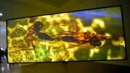 Nicht nur ein Bild auf der Leinwand: In der Ausstellung von Pierre Huyghe im Sprengel Museum in Hannover gibt es auch echte Fliegen, die zu Hunderten durch die Räume surren.