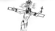 Kriegsopfer oder Kriegstreiber? George Grosz zeichnete seinen Christus mit Gasmaske gleich mehrfach, bevor ihm 1928 der Prozess gemacht wurde.