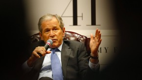 President George W. Bush launches his new book