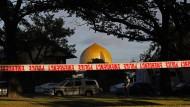 Die Masjid-Al-Noor-Moschee in Christchurch nach dem rechtsterroristischen Anschlag im März 2019