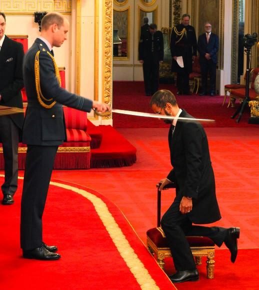 Sir Ringo: Im Jahr 2018 wird Starr von Prinz William zum Ritter geschlagen.
