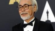 Trickfilmer Hayao Miyazaki 2014 bei der Verleihung der Governors Awards
