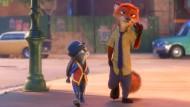 Feinde im Feld, Freunde im Film: die Häsin Judy und Nick der Fuchs.
