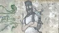 Graffiti-Künstler macht Ärger über Trump Luft