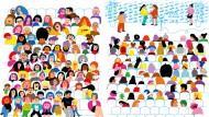 """Einer wird danach die Welt mit anderen Augen sehen: Kristin Roskiftes Wimmelbuch """"Alle zählen"""""""