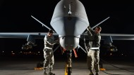 Kampfdrohne des Typs MQ-9 Reaper auf der Creech Air Force Base