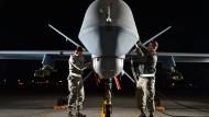 Kampfdrohne des Typs MQ-9 Reaper auf der Creech Air Force Base