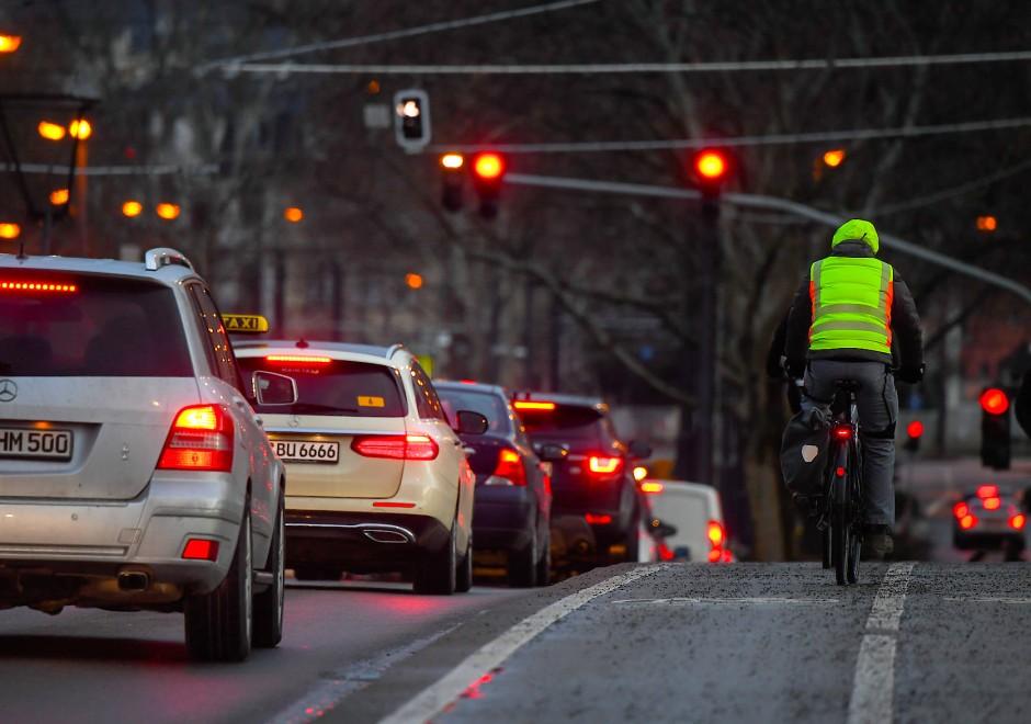 Frankfurt Straßensperrung