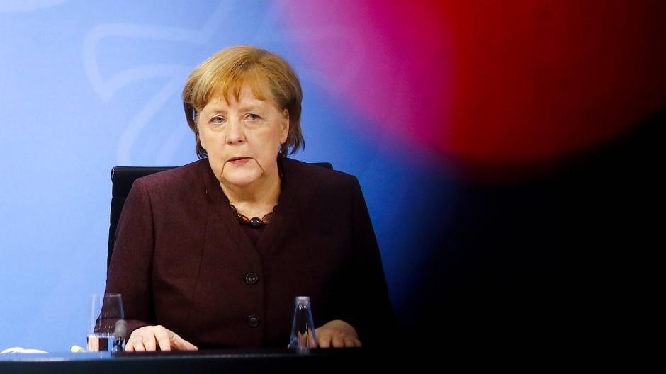 Bundeskanzlerin Angela Merkel am 10. Februar 2021.