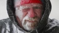 Wenn die Kälte den Menschen zufriert: Der Kanadier Allan Umscheid auf einem Archivfoto vom Januar 2014.