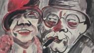 """Hans Christoph: """"Paar"""", Aquarell, 1924. Das Werk wurde jenen Werken des Schwabinger Kunstfundes zugerechnet, bei denen laut Behördenangaben """"der begründete Verdacht auf NS-verfolgungsbedingten Entzug"""" bestehen sollte."""