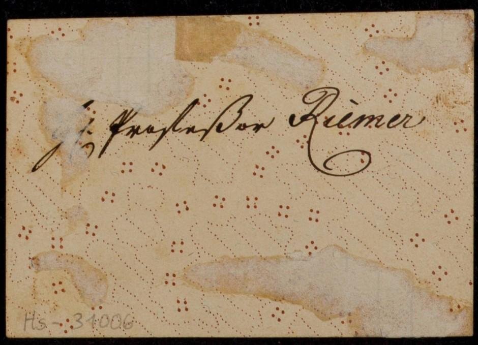 Eine Goethe-Handschrift aus dem Freien Deutschen Hochstift in Frankfurt. Wahrscheinlich ist sie echt. Aber begeistert uns nicht vor allem die Vorstellung, mehr als die Tatsache selbst?