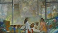 Hammer, Sichel und Atomkraftwerk? 1981 entstandenes Werk eines unbekannten Kiewer Künstlers.