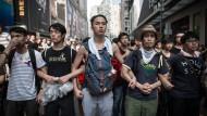 Angst und Entschlossenheit: Demonstranten Anfang Oktober in Hongkong