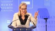 """Die """"über-ausgeschimpfteste Schauspielerin"""" ihrer Generation: Meryl Streep am Samstag in New York"""