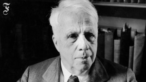 Robert Frost: Innehaltend inmitten der Wälder an einem Schnee-Abend
