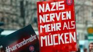 Widerstand gegen Hetze: Demonstranten im April in Magdeburg.