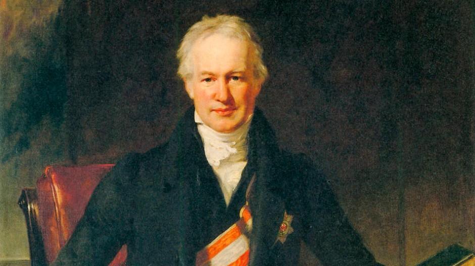 Alexander von Humboldt im Porträt von Henry William Pickersgill, 1831.