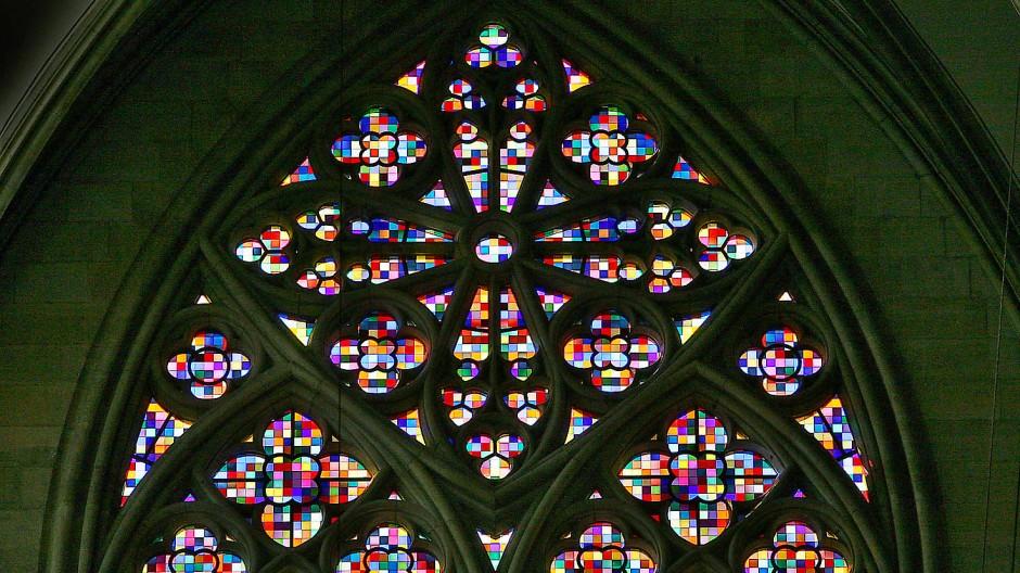 Glasfenster von Gerhard Richter im Kölner Dom