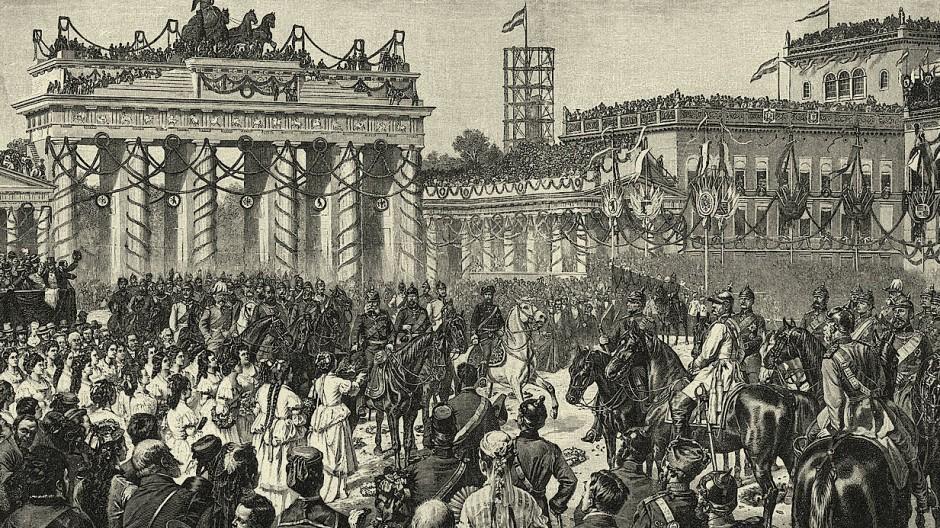 Siegesparade in Berlin am 16. Juni 1871