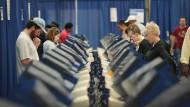 Wahlmaschinen in Chicago, Illinois