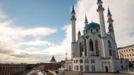 Erst dreizehn Jahre alt und schon ein Wahrzeichen: die Kul-Sharif-Moschee im Kreml von Kasan.