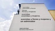 Gomringer-Gedicht an der Fassade der Alice-Salomon-Hochschule in Berlin