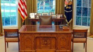 Das leere Oval Office in Washington – hier wird Trump Platz nehmen.