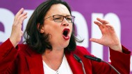 SPD-Chefin Andrea Nahles beim Wahlkampf in Offenbach