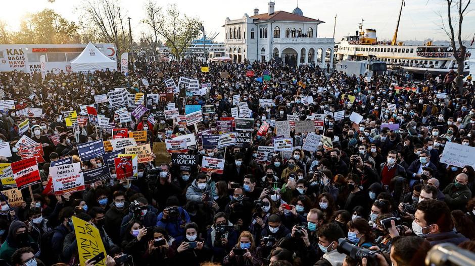 Studentenproteste Anfang Januar in Istanbul