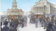 Baumeister Schinkel verdrückt sich mal lieber: Ein Comic zur Geschichte des Berliner Konzerthauses