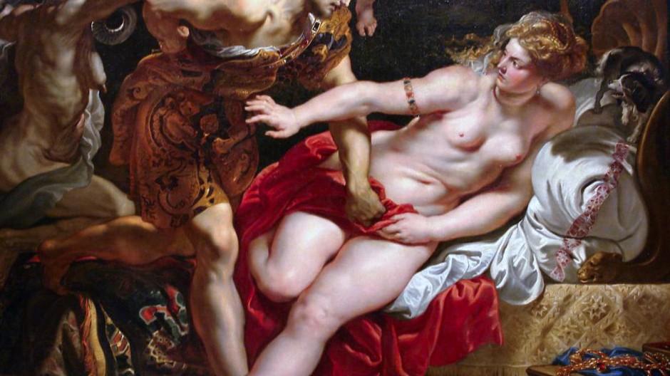 """Die Gleichstellungsbeauftragten der nordrhein-westfälischen Hochschulen weisen darauf hin, """"dass jeder Lehrende in seiner Karriere mit Studentinnen und Studenten interagieren wird, die persönliche Erfahrung mit sexualisierter Diskriminierung und/oder Gewalt gemacht haben"""". Daher raten sie, bei der Behandlung von Stoffen wie der Geschichte von Tarquinius und Lucretia vorab einen Hinweis zu geben. Das Gemälde von Rubens hängt in der Eremitage."""