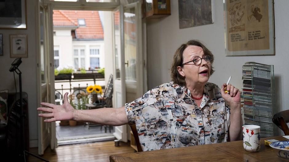 Nie um eine flapsige Antwort verlegen: Katja Lange-Müller, hier in Berlin 2016.