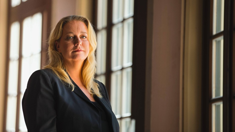 Die künstlerische Leiterin und Geschäftsführerin der Bayreuther Festspiele, Katharina Wagner im Festspielhaus 2019.