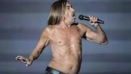 Real Wild Child: Iggy Pop tritt im März 2017 als Ehrengast bei einem Metallica-Konzert in Mexiko auf.